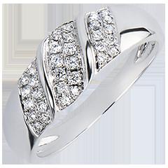Anello Abbondanza - Nastro - oro bianco 18 carati e diamanti