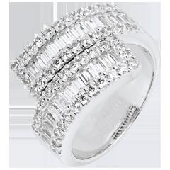 Anello Costellazione - Luce Infinita variazione - Oro bianco - 18 carati - 76 Diamanti - 2.52 carati