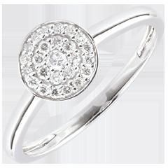 Anello Costellazione - Oro Bianco - 18 carati - 25 Diamanti - 0.16 Carati