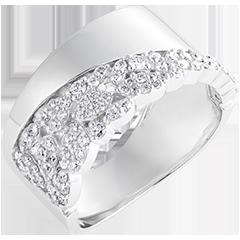 Anello Destino - Costanza - oro bianco 9 carati e diamanti