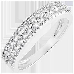 Anello Destino - Diana - oro bianco 9 carati e diamanti