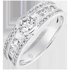 Anello di fidanzamento Destino - Philipine - oro bianco 9 carati e diamanti