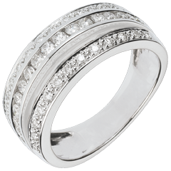 Anello Fantasmagoria - Via Lattea - Oro bianco - 18 carati - 43 diamanti - 0.7 carati