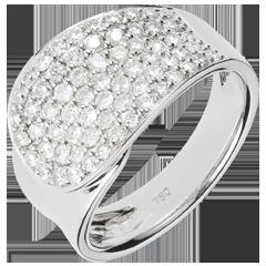 Anello Fascia di diamanti - Oro bianco - 18 carati - 66 Diamanti - 1.1 carati