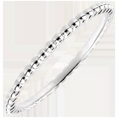 Anello Fior di Sale - Oro bianco - 18 carati