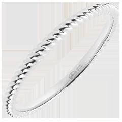 Anello Fune d'Oro - Oro bianco - 9 carati