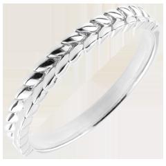 Anello Giardino Incantato - Treccia - Oro bianco - 9 carati