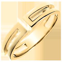 Anello Gloria - oro giallo spazzolato 18 carati