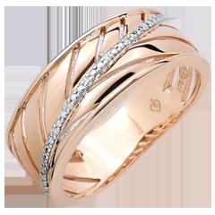 Anello Palma - oro rosa 18 carati e diamanti