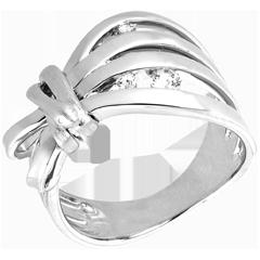 Anello Passeggiata Immaginaria - Camouflage - Oro bianco - 18 carati - Diamanti