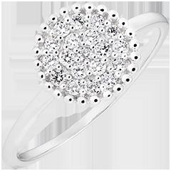 Anello Penelope - oro bianco 9 carati e diamanti