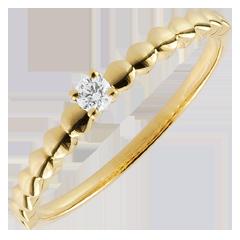 Anello Solitario Bonbon d'Oro - Oro giallo - 9 carati - Diamante
