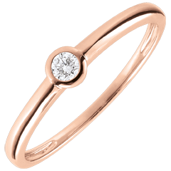 Anello Solitario Mio Diamante – Oro rosa – 0.08 carati – oro rosa 9 carati