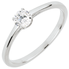 Anello Solitario Purezza preziosa - Oro bianco - 18 carati - Diamante - 0.30 carati