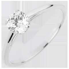 Anello Solitario - Purezza preziosa - Oro bianco - 18 carati - Diamante - 0.50 carati