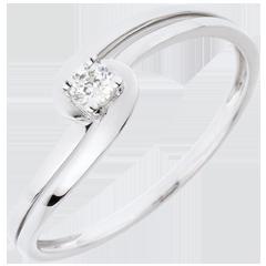 Anello Solitario Silly - Oro bianco - 18 carati - 1 Diamante