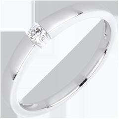 Anello Solitario Vera - Oro bianco - 18 carati - 1 Diamante