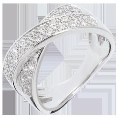 Anello Tandem pavé - Oro bianco - 18 carati - 36 Diamanti - 0.5 carati