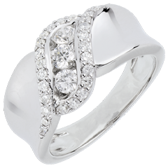 Anello Trilogy Destino - Sheherazade - Oro Bianco - 18 carati - Diamanti
