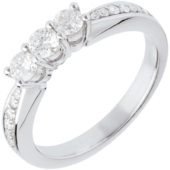 Anello Trilogy - Oro bianco - 18 carati - Diamanti - 0.5 carati