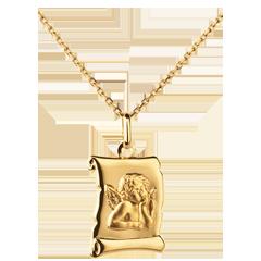 Angel Raphael Parchment Medal - 16mm