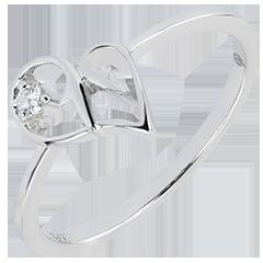 Anillo Abundancia - Tentación - oro blanco de 9 quilates y diamante