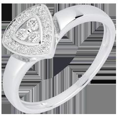 Anillo Cine - oro blanco 18 quilates y diamantes