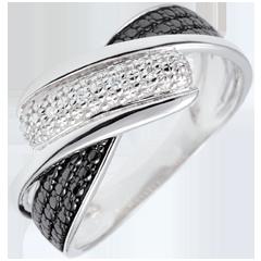 Anillo Claroscuro - Kinesis - oro blanco 9 quilates - diamantes blancos