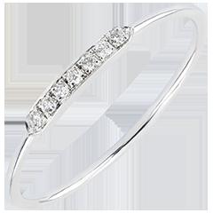 Anillo de Compromiso Abundancia - Equilibrio - oro blanco de 9 quilates y diamantes