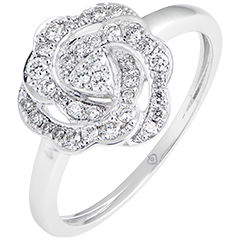 Anillo de compromiso Frescura - Nina - oro blanco de 9 quilates y diamantes