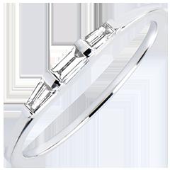 Anillo de Compromiso Origen - Trilogía Biela - oro blanco de 9 quilates y diamantes