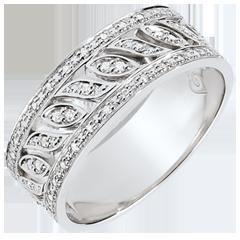 Anillo Destinado - Teodora - 52 diamantes - oro blanco de 9 quilates