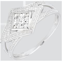 Anillo Destino - Andrómica - oro blanco 18 quilates y diamantes