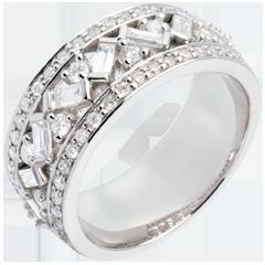 Anillo Destino - Emperatriz - oro blanco diamantes - 0. 9 quilates