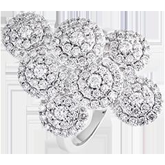 Anillo Destino- Garbo - oro blanco de 9 quilates y diamantes