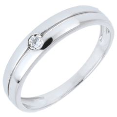Anillo Edenidad - oro blanco 18 quilates y diamante