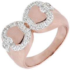 Anillo Frescura - Manzana de Amor - oro rosa y oro blanco 18 quilates