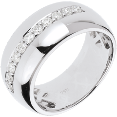 Anillo Hada - Brillo de Luna - oro blanco 18 quilates - 11 diamantes 0.37 quilates