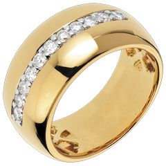 Anillo Hada - Brillo Solar - oro amarillo 18 quilates - 11 diamantes 0.37 quilates