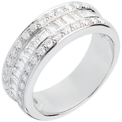 Anillo Hada - Heredero - oro blanco 18 quilates empedrado - 44 diamantes 0.88 quilates