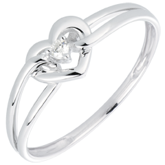 Anillo Mi Amor - oro blanco 18 quilates y diamante