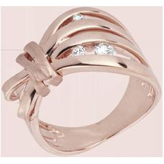 Anillo Paseo Soñado - Camuflaje oro rosa 18 quilates