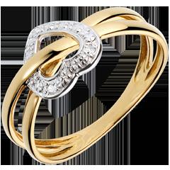 Anillo Planeta Amor - oro blanco y oro amarillo 18 quilates