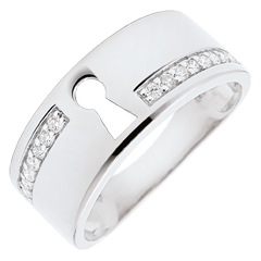 Anillo Precioso Secreto - oro blanco 9 quilates y diamantes