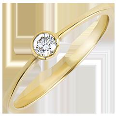Anillo Solitario Origen - Inocencia - oro amarillo de 9 quilates y diamantes