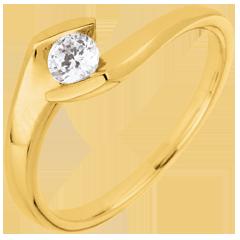 Anillo solitario Tarde de Verano - oro amarillo 9 quilates y diamante