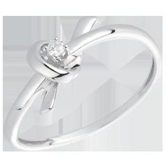 Anillo Souvenir - oro blanco 18 quilates y diamante