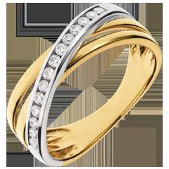 Anillo Triaz - oro blanco y oro amarillo 18 quilates