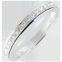Anneau Diamants Princesse sertis rail - 0.36 carats