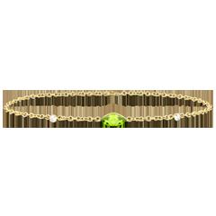 Armband Auge des Orients - Peridot und Diamanten - 9 Karat Gelbgold